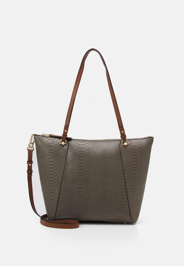 SHOPPER BAG SNAKIE SET - Tote bag - khaki