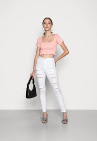 Missguided - MULTI VICE HIGH WAIST - Jeans Skinny Fit - white - 1