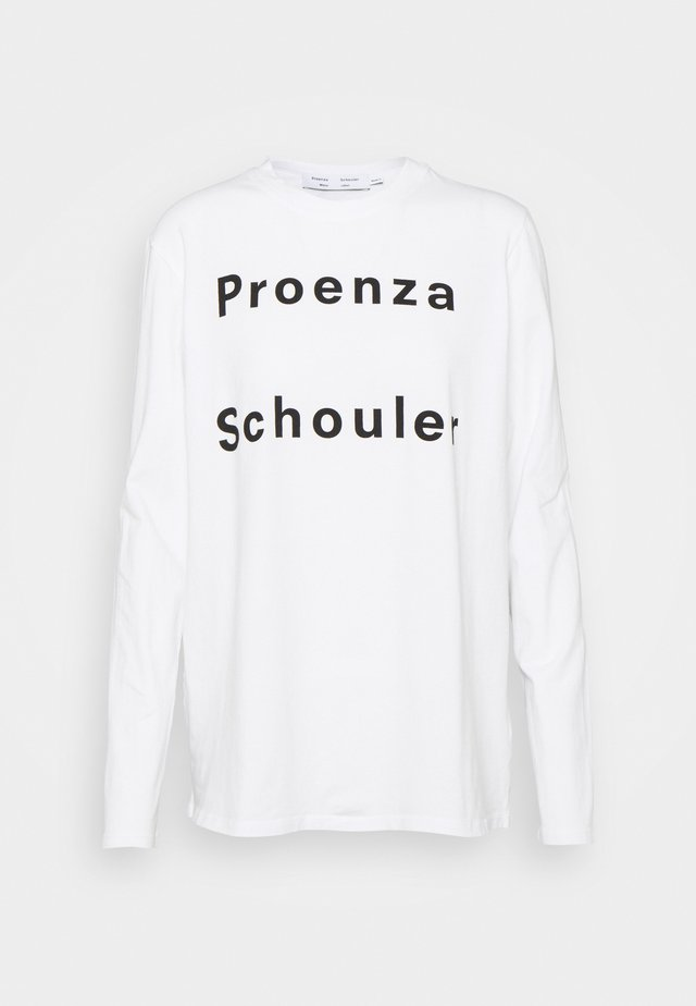 LONG SLEEVE LOGO - Langarmshirt - white