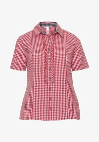 Sheego - Button-down blouse - rot-weiß - 4