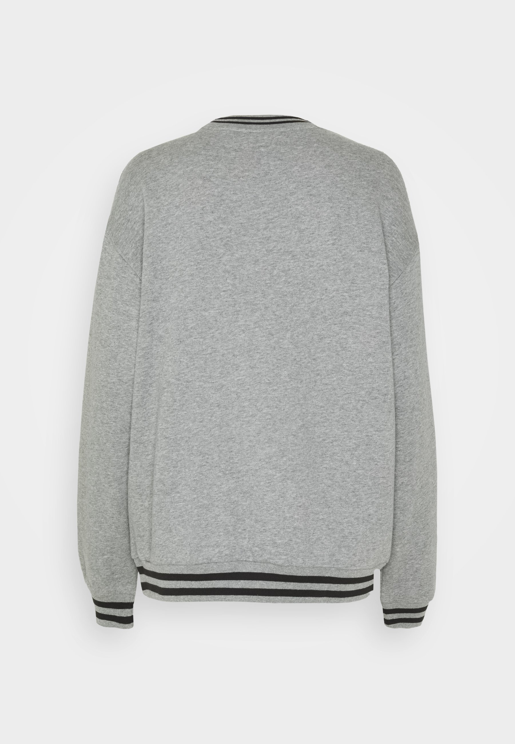 Women GREY SWEAT WITH STRIPED TRIMS - Sweatshirt