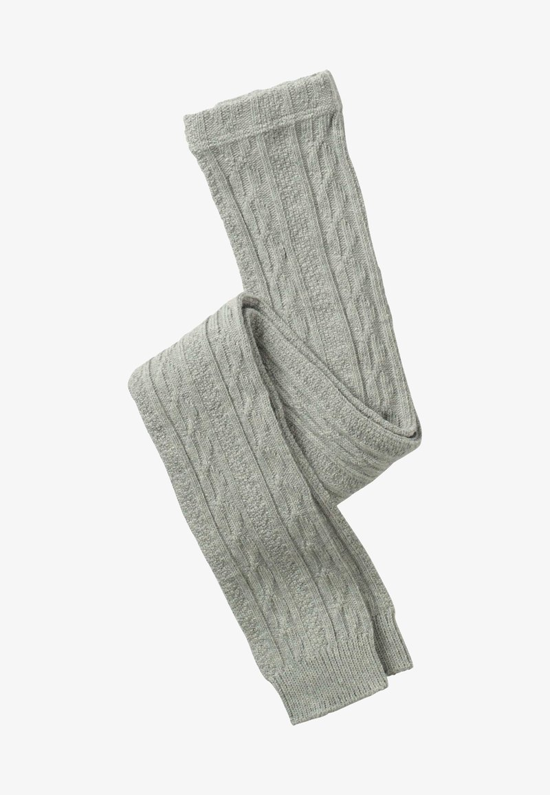 Boden - MIT ZOPFMUSTER - Leggings - Stockings - grau meliert