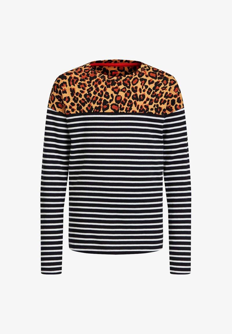 WE Fashion - MET LUIPAARDDESSIN - Longsleeve - black