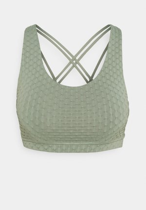 STRAPPY SPORTS CROP - Sujetador deportivo - basil green