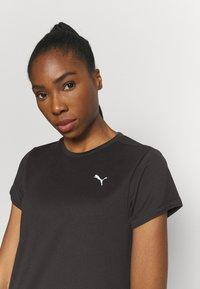 Puma - RUN FAVORITE TEE - Camiseta estampada - black - 3