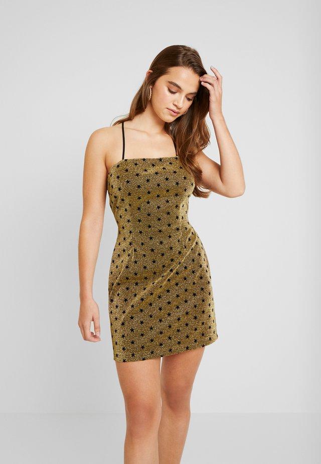 Korte jurk - gold metallic
