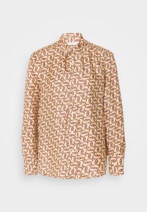 CHAINY - Button-down blouse - beige/bordeaux