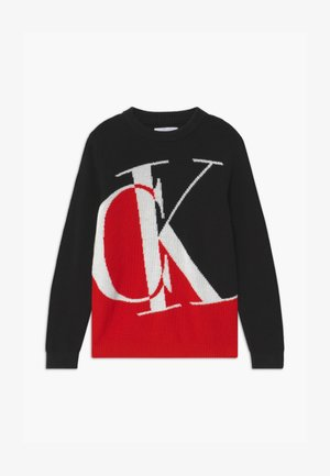 OCO EXPLODED MONOGRAM - Jumper - red