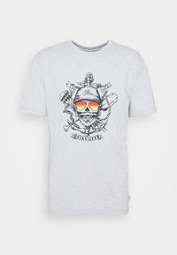 Quiksilver - MADE OF BONES - Print T-shirt - athletic heather - 3