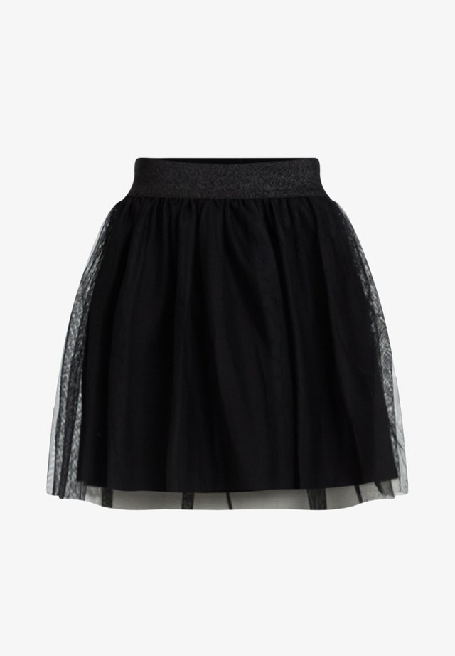 MEISJES TULE - Mini skirt - black