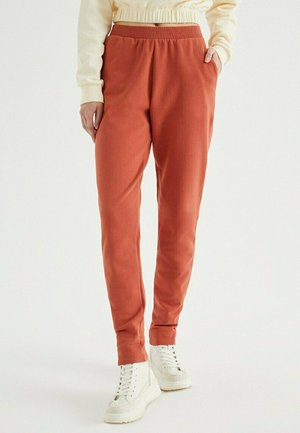 ENJOY CUFFED - Tracksuit bottoms - ketchup