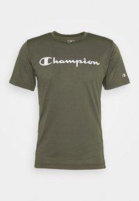 Champion - LEGACY TRAINING CREWNECK - Triko spotiskem - khaki - 4