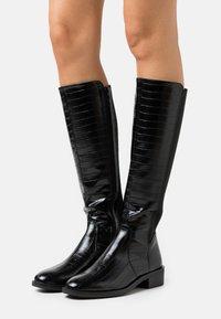 New Look - PLAIN STRETCH BACK  - Vysoká obuv - black - 0