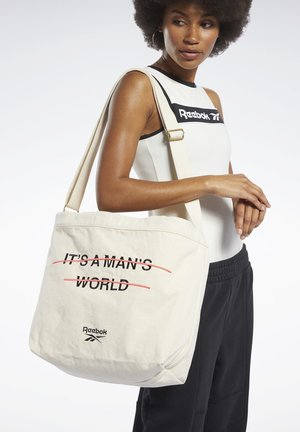 IT'S A MAN'S WORLD  - Shoppingveske - white