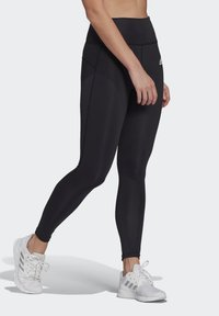 adidas Performance - FEELBRILLIANT DESIGNED TO MOVE TIGHTS - Leggings - black/white - 0