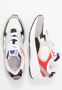 Champion - LOW CUT SHOE LEXINGTON - Sports shoes - offwhite/grey/red - 1