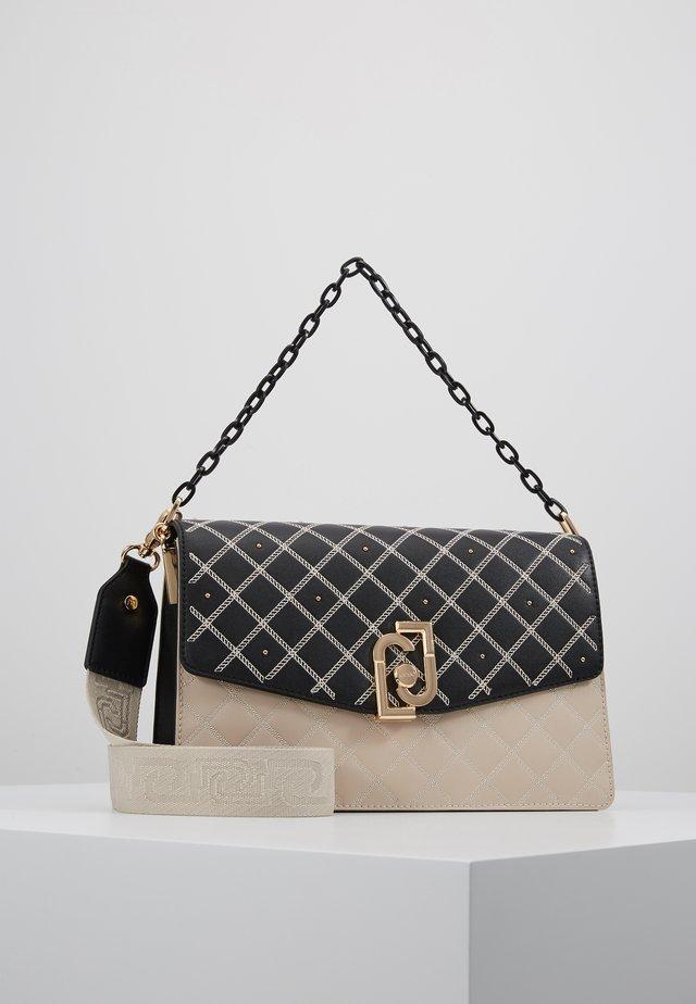 CROSSBODY - Handbag - black/beige