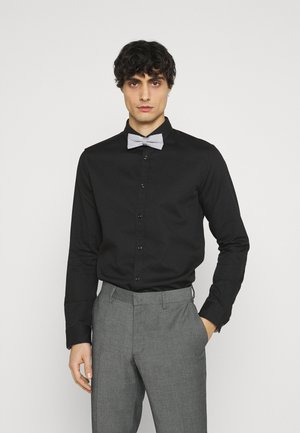 FITTED EASY CARE WITH BOWTIE - Shirt - black