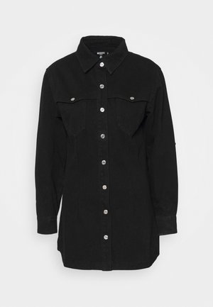 WESTERN YOKE DRESS - Skjortekjole - black