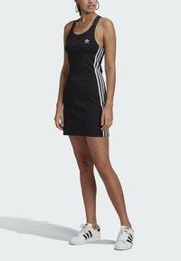 adidas Originals - RACER DRESS - Jersey dress - black - 3