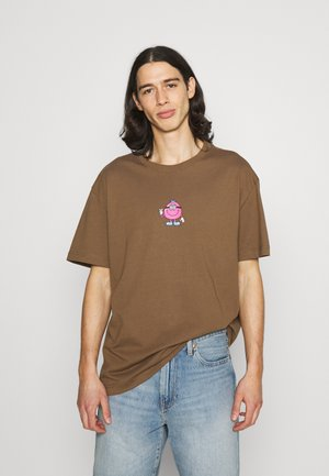 OVERSIZED PRINTED - T-shirt med print - brown