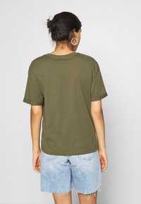Even&Odd - Basic T-shirt - olive night - 2