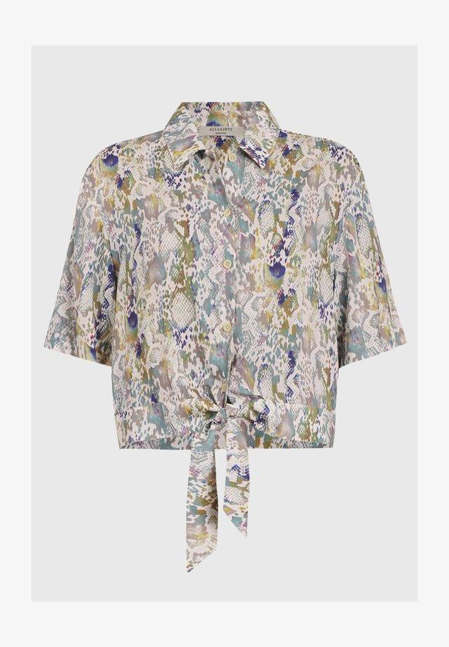 LENI MASALA SHIRT - Button-down blouse - blue