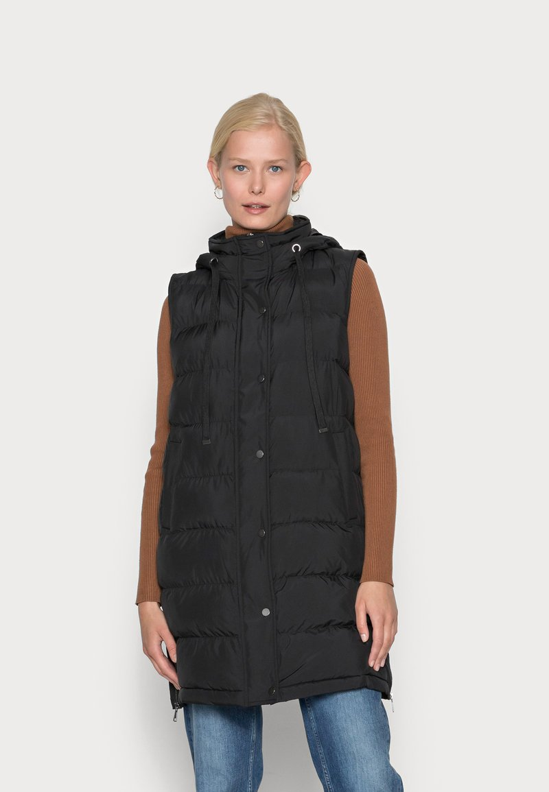 Opus - WAFA CASUAL - Waistcoat - black
