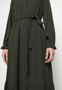 Bruuns Bazaar - NORI SICI DRESS - Shirt dress - green night - 7