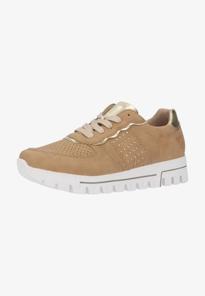 Trainers - nude/gold