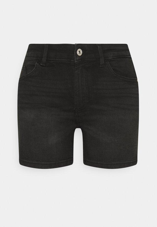 ONLBLUSH  LIFE MID - Jeansshort - black denim