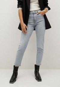 Mango - Slim fit jeans - grijs denim - 0