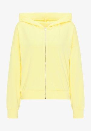 Zip-up sweatshirt - gelb