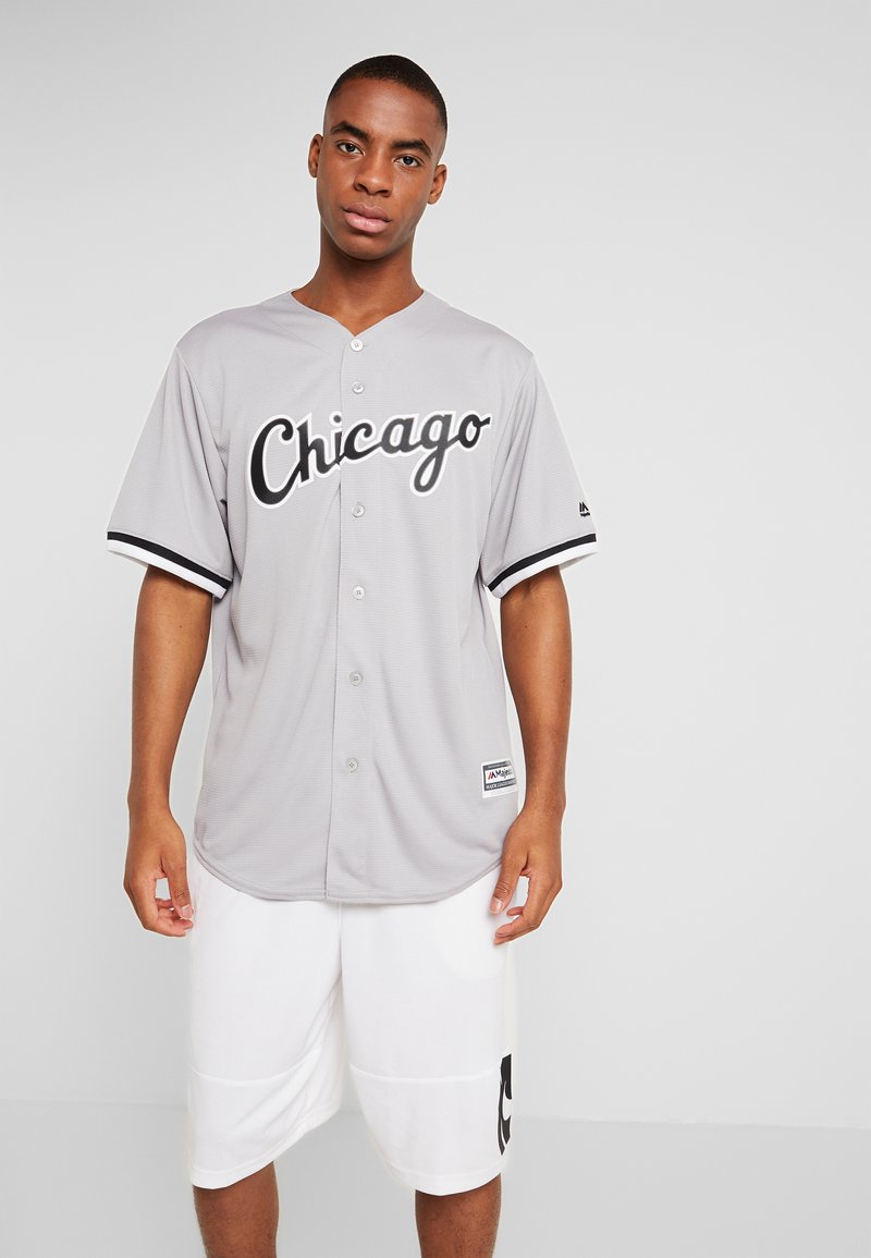 Fanatics - CHICAGO SOX MAJESTIC REPLICA COOL BASE ROAD - T-shirt imprimé - silver