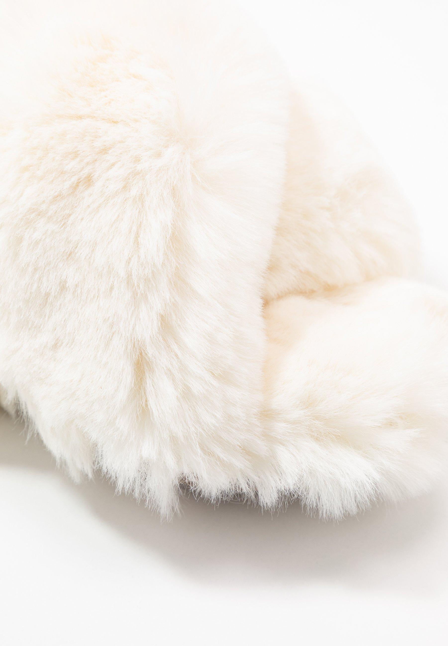 Collecties Best Verkopende Damesschoenen PsdkjGXhisd J.CREW FUZZY CROSSED Pantoffels ivory WOCpyGD