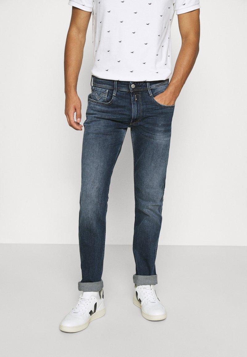 Replay - ANBASS - Straight leg jeans - dark blue denim