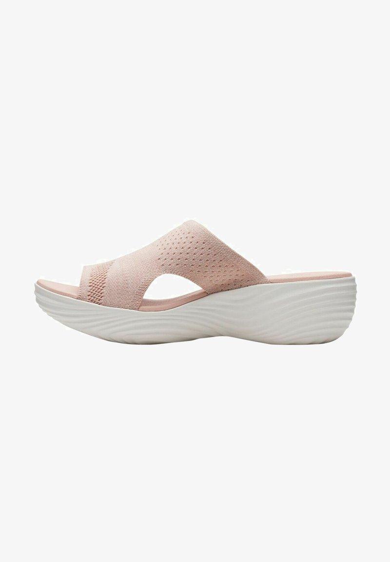 Clarks - Sandalias de cuña - light pink