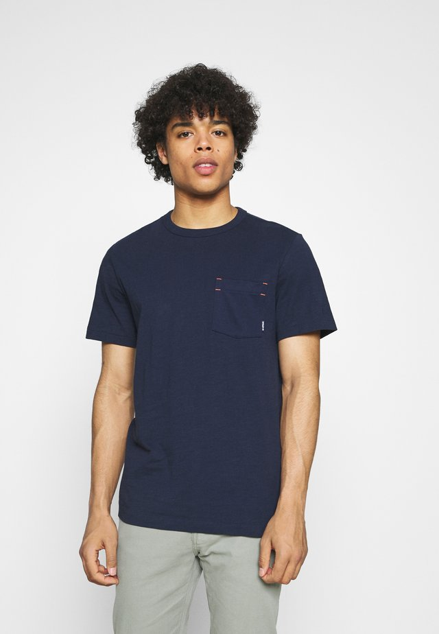 CONTRAST MERCERIZED PKT R T S\S - T-shirt basic - sartho blue