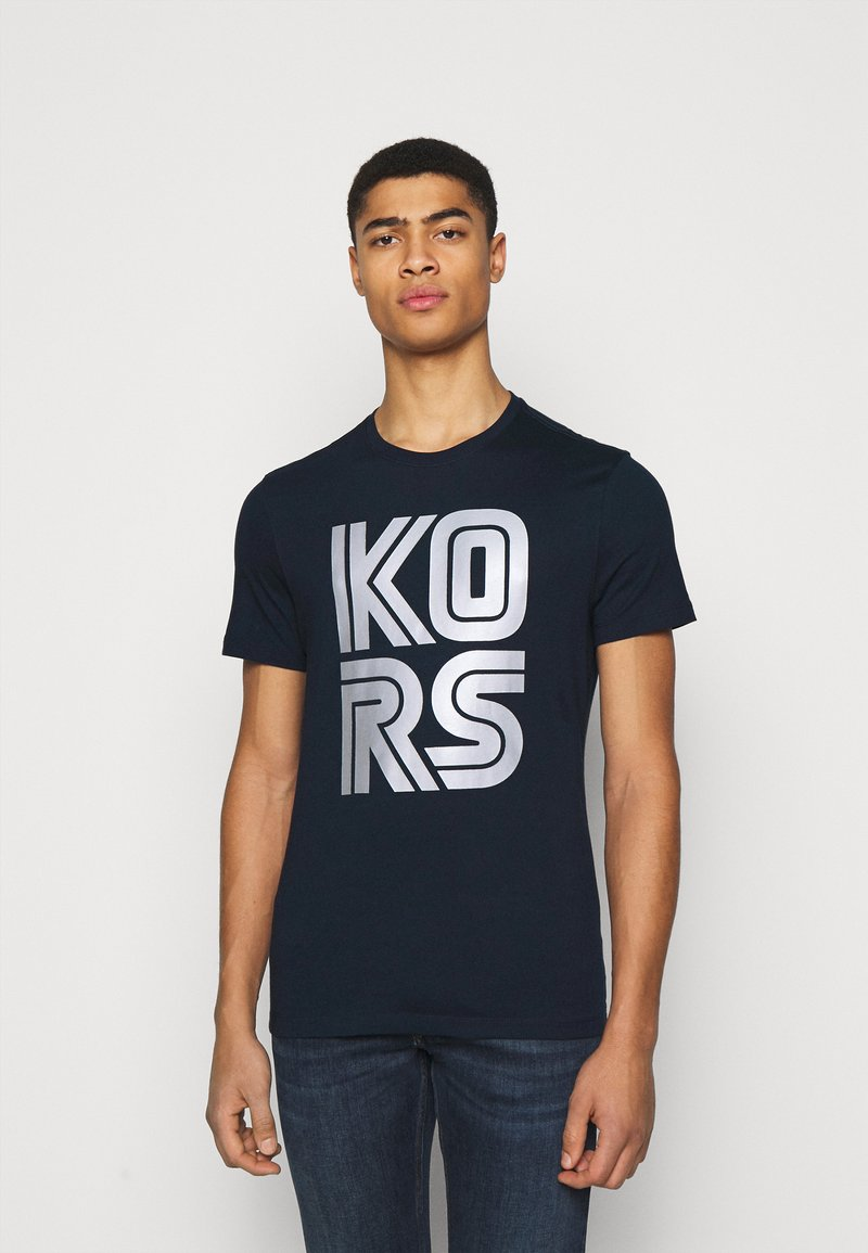 Michael Kors - TECHNO TEE - Print T-shirt - dark midnight