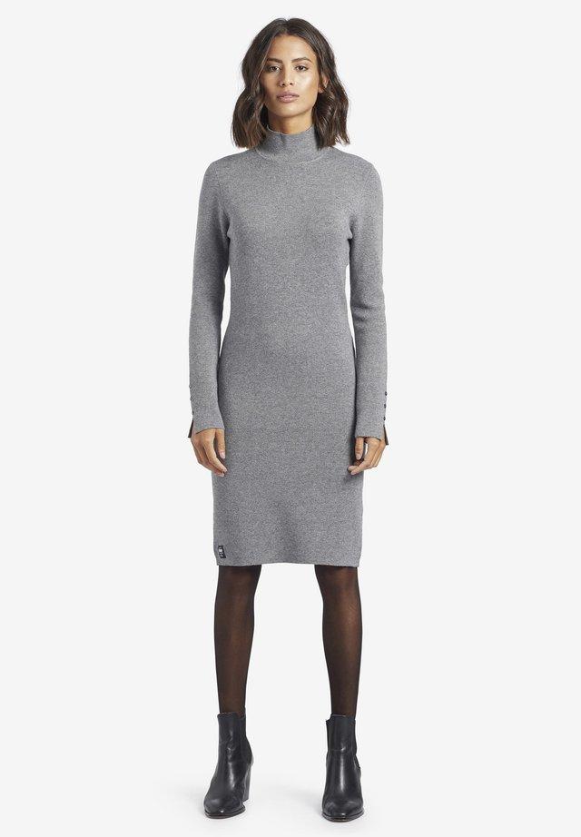 SAJA - Gebreide jurk - light gray
