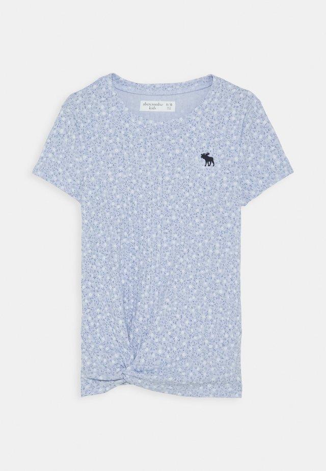 Print T-shirt - blue ditsy
