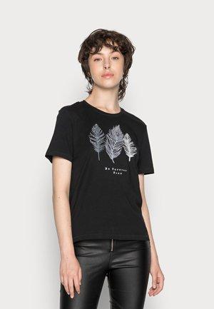 ONLKITA LIFE  - Print T-shirt - black/feathers