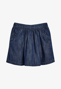 Next - A-line skirt - mottled blue - 0