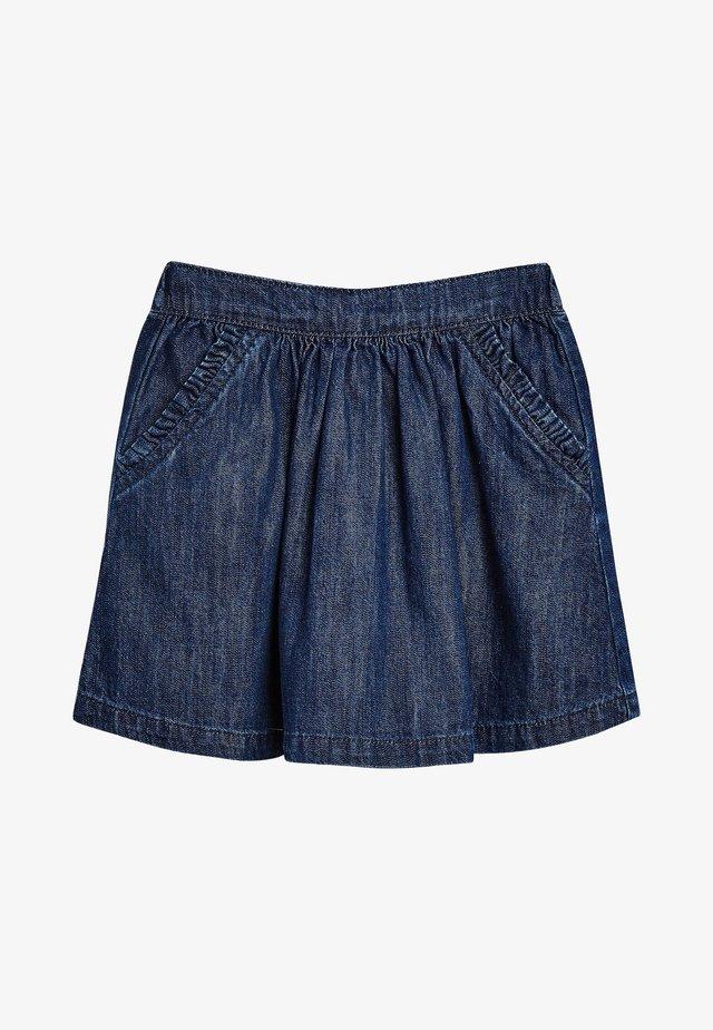 A-line skirt - mottled blue