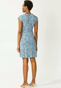 Indiska - FERN  - Jerseyklänning - blue - 2