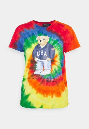 TIE DYE BEAR SHORT SLEEVE - T-shirt con stampa - rasta blue