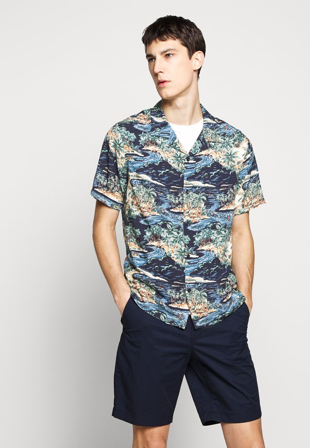 CHEMISE TROPICAL PRINT - Camisa - navy/blue