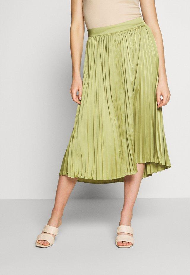SENTA SKIRT - Áčková sukně - sage
