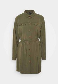 VMCOCO DRESS  - Shirt dress - ivy green