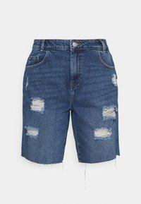 Noisy May - NMLUCKY LONGBOARDER SHORTS - Shorts di jeans - medium blue denim - 3